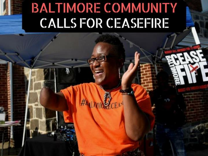 baltimore community calls for ceasefire