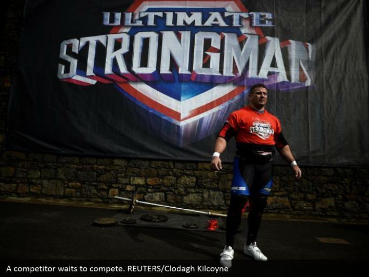 A competitor waits to compete. REUTERS/Clodagh Kilcoyne