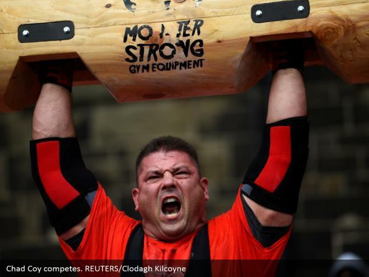 Chad Coy competes. REUTERS/Clodagh Kilcoyne