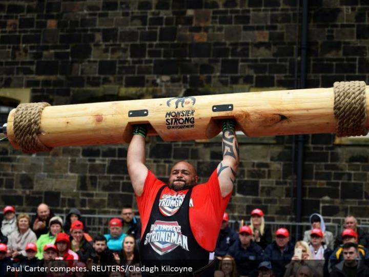 Paul Carter competes. REUTERS/Clodagh Kilcoyne
