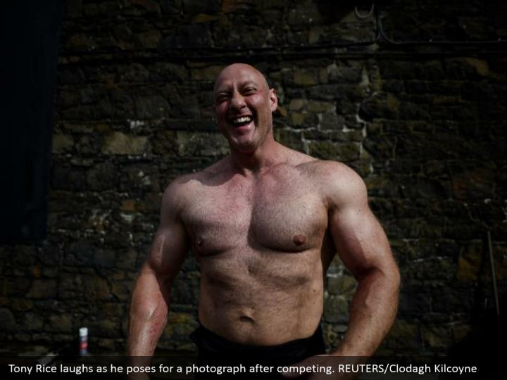 Tony Rice laughs as he poses for a photograph after competing. REUTERS/Clodagh Kilcoyne