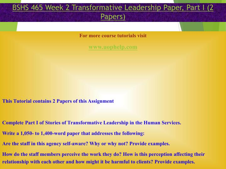 transformational leadership 3 essay Transformational leadership essay - free download as pdf file (pdf), text file (txt) or read online for free transformational leadership.
