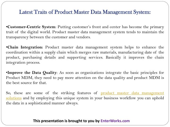 impact of master data management 2 | master data management: extracting value from your most important intangible asset the next level of business excellence if your organization is like others, you are probably.