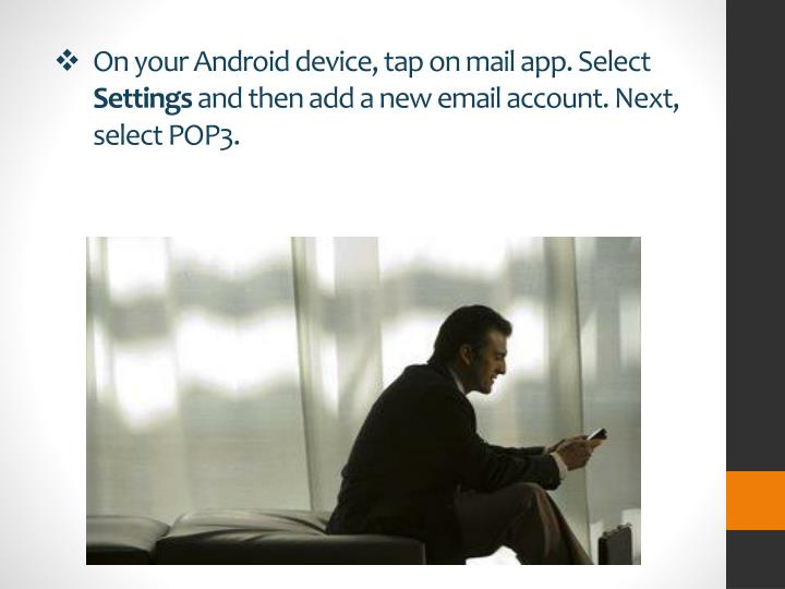 how to get msn email on android