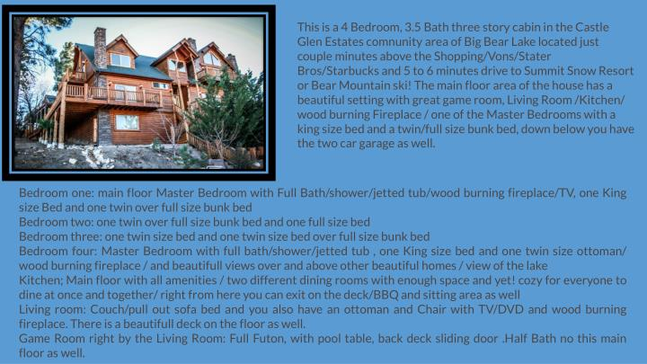 PPT - big bear cabins for rent with hot tub PowerPoint ...