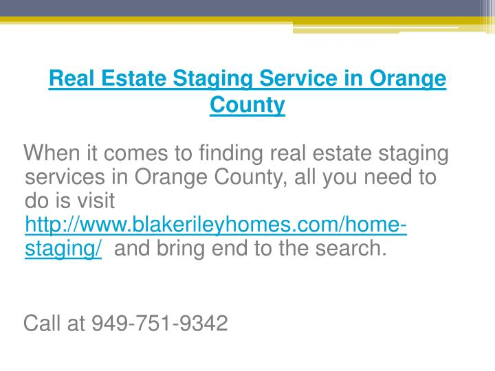 Real Estate Staging Service in Orange County