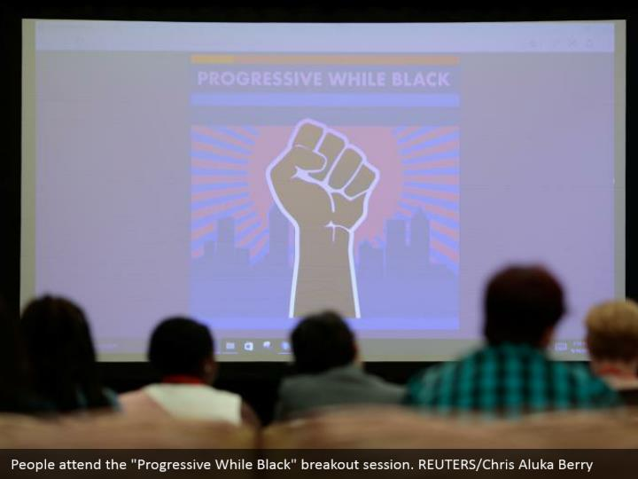 "People attend the ""Progressive While Black"" breakout session. REUTERS/Chris Aluka Berry"