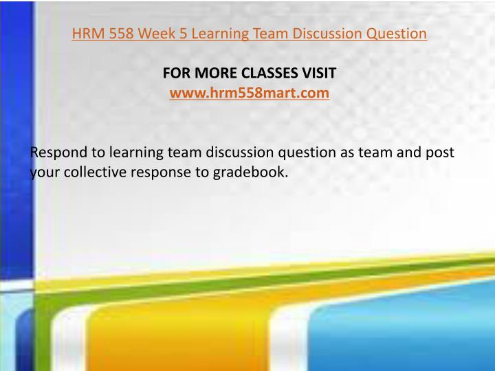 discussion questions hrm
