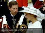 prince charles and princess diana as they await