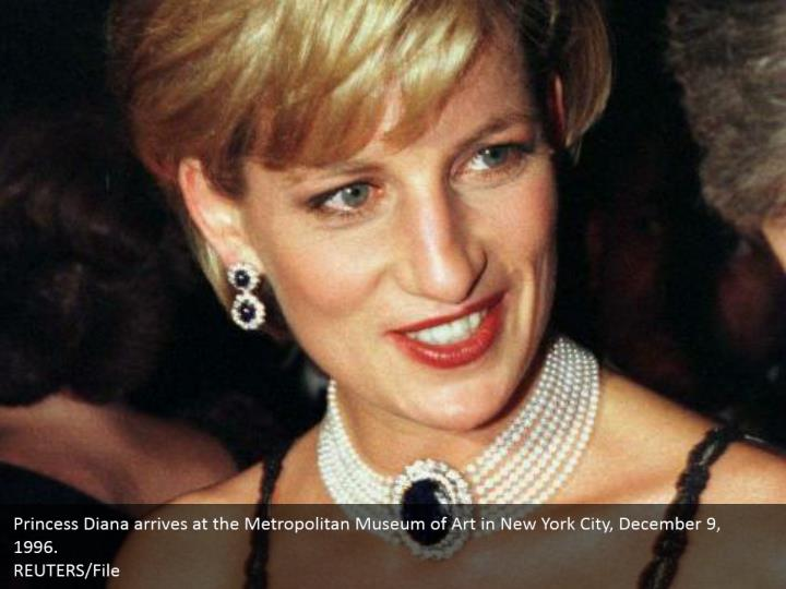 Princess Diana arrives at the Metropolitan Museum of Art in New York City, December 9, 1996.  REUTERS/File
