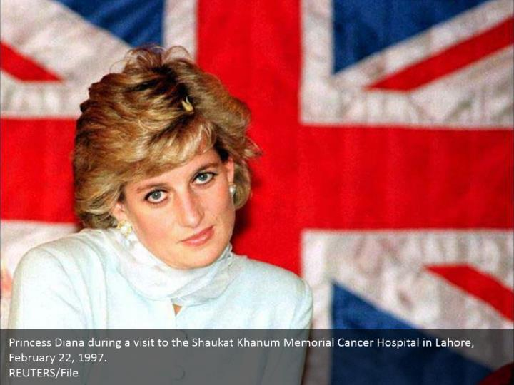 Princess Diana during a visit to the Shaukat Khanum Memorial Cancer Hospital in Lahore, February 22, 1997.  REUTERS/File