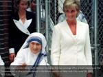 princess diana holds hands with mother teresa
