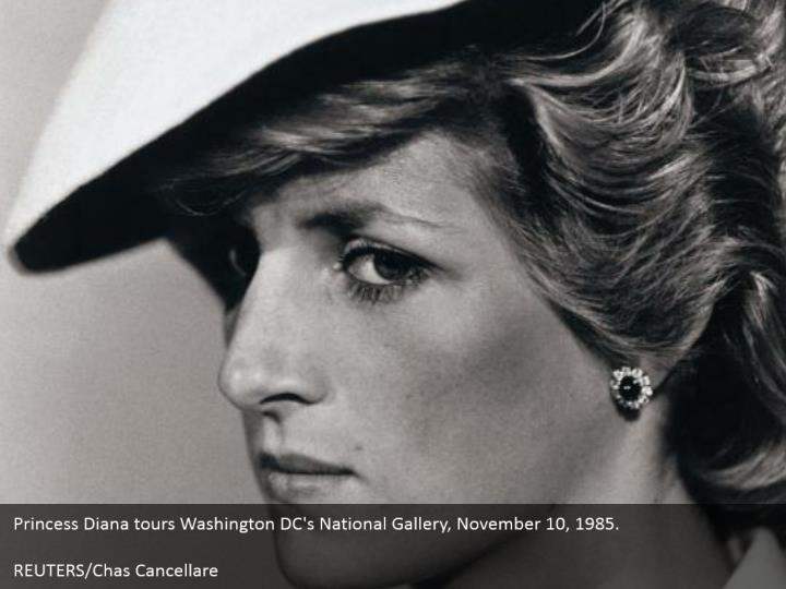 Princess Diana tours Washington DC's National Gallery, November 10, 1985.    REUTERS/Chas Cancellare