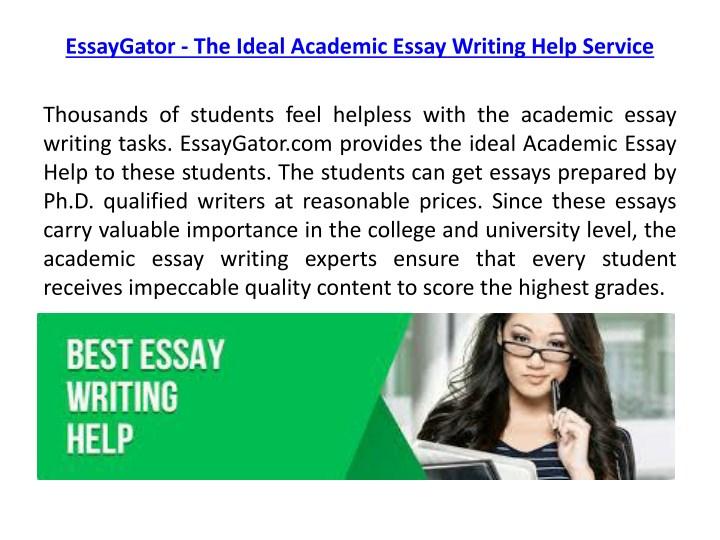 best academic essay