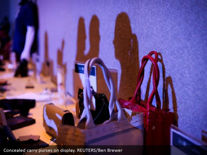 Concealed carry purses on display. REUTERS/Ben Brewer