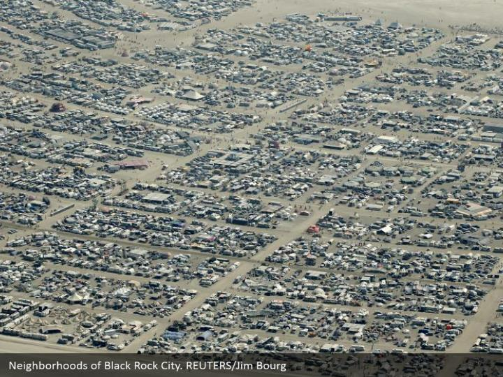Neighborhoods of Black Rock City. REUTERS/Jim Bourg