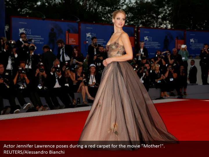 "Actor Jennifer Lawrence poses during a red carpet for the movie ""Mother!"". REUTERS/Alessandro Bianchi"