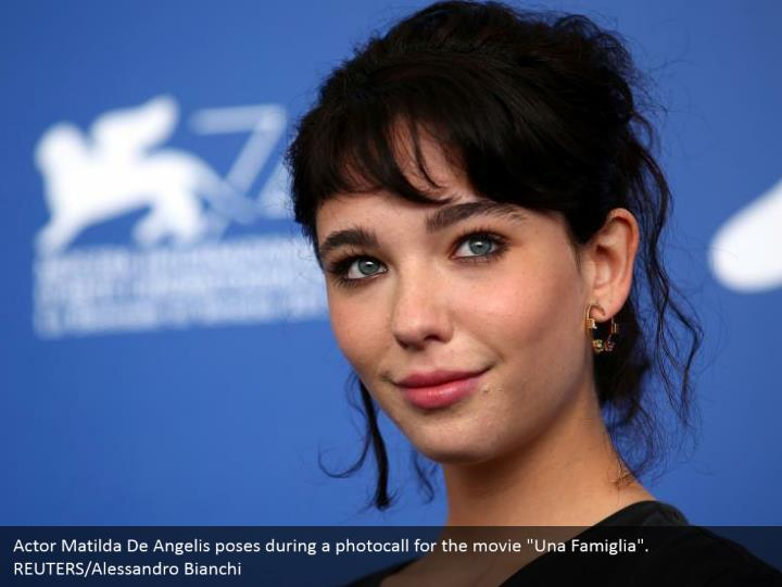 "Actor Matilda De Angelis poses during a photocall for the movie ""Una Famiglia"". REUTERS/Alessandro Bianchi"