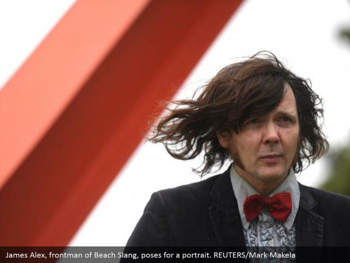 James Alex, frontman of Beach Slang, poses for a portrait. REUTERS/Mark Makela