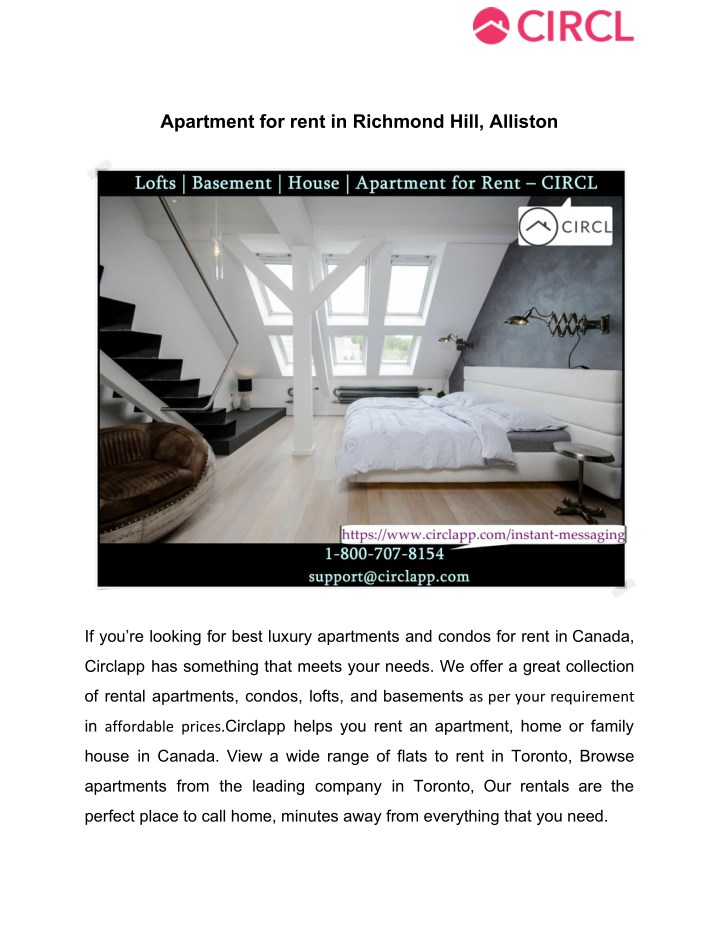 Apartment for rent in richmond hill alliston