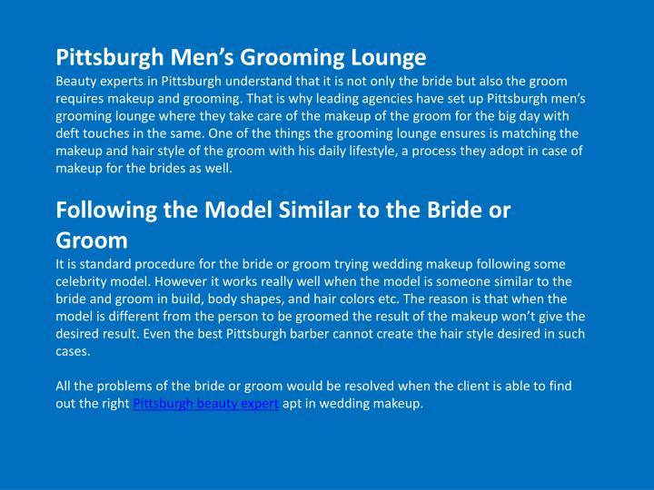 Pittsburgh Men's Grooming Lounge