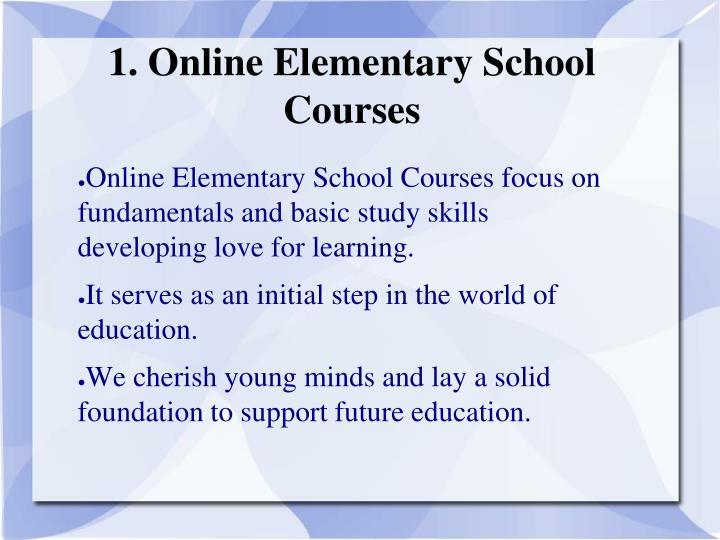 1. Online Elementary School Courses