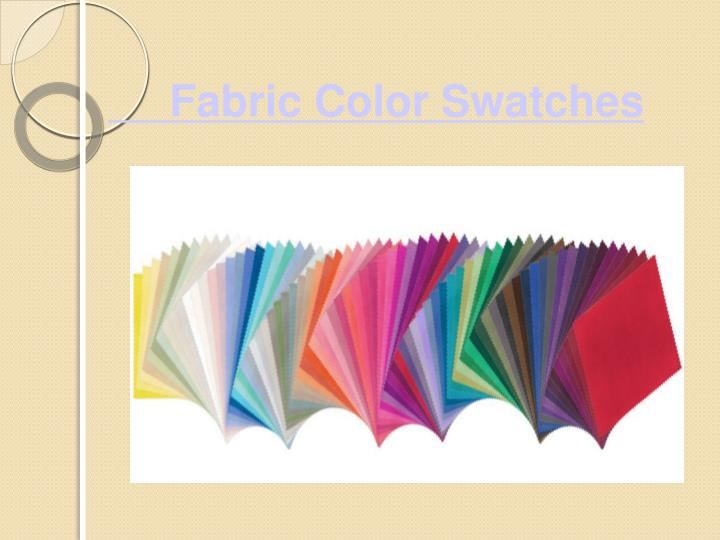 Fabric color swatches