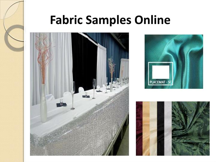 Fabric samples online