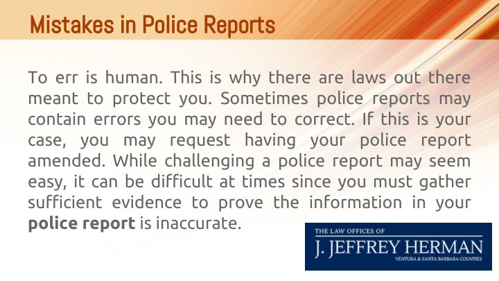 Mistakes in police reports mistakes in police