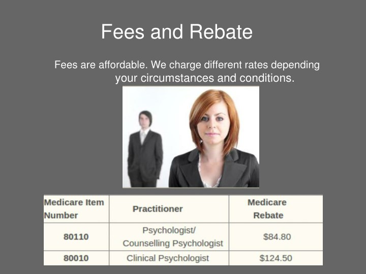 Fees and Rebate