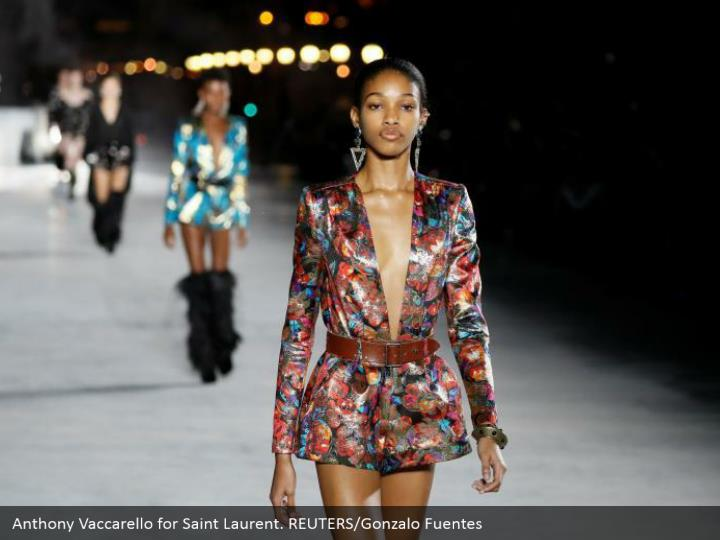 Anthony Vaccarello for Saint Laurent. REUTERS/Gonzalo Fuentes