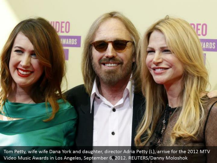 Tom petty wife wife dana york and daughter