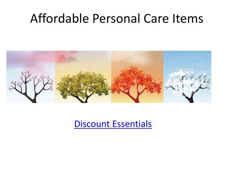 Affordable Personal Care Items