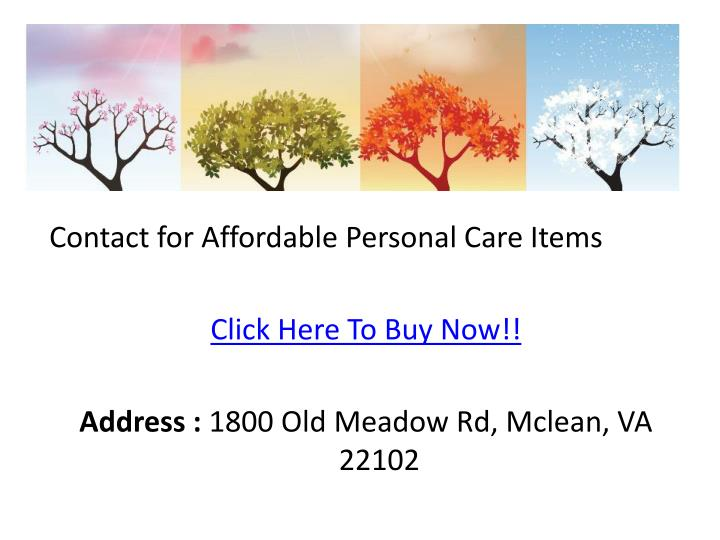 Contact for Affordable Personal Care Items