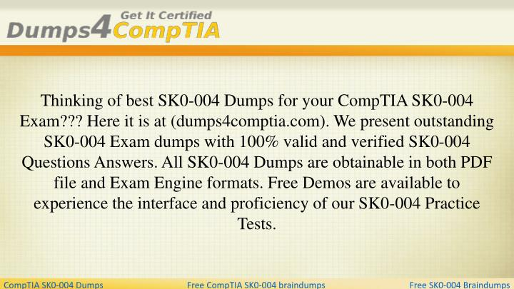 Thinking of best sk0 004 dumps for your comptia
