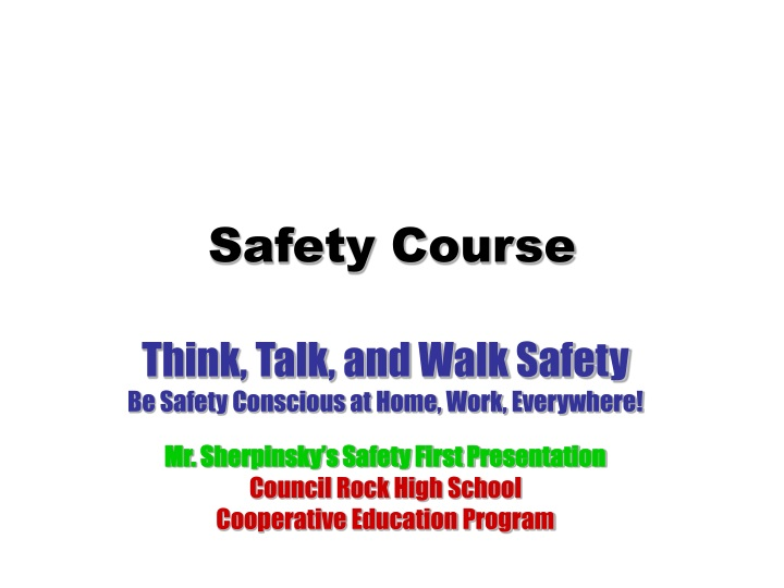 safety course n.
