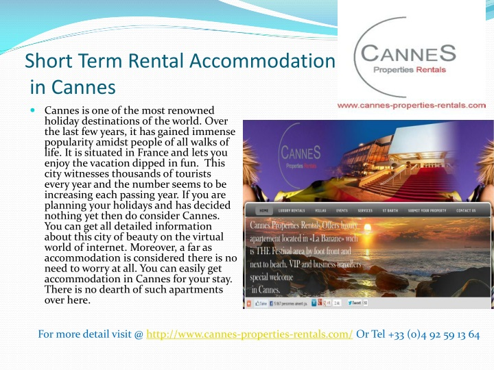 short term rental accommodation in cannes n.