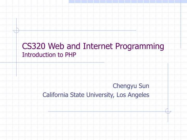 cs320 web and internet programming introduction to php n.