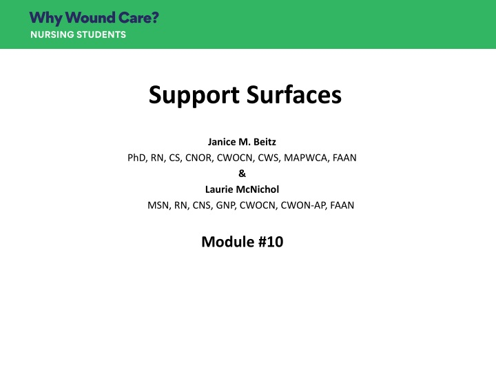 support surfaces n.