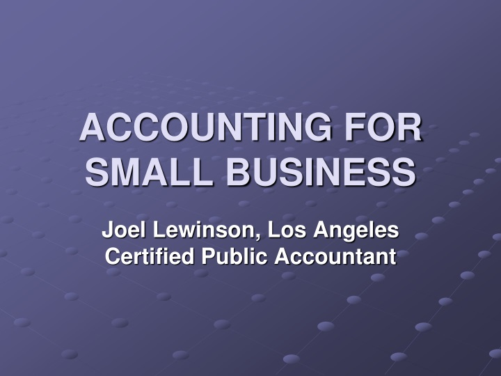 accounting for small business n.