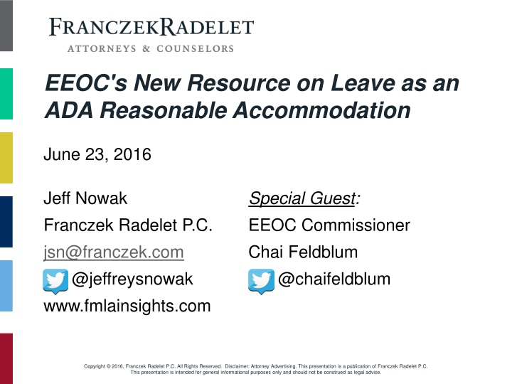eeoc s new resource on leave as an ada reasonable accommodation n.