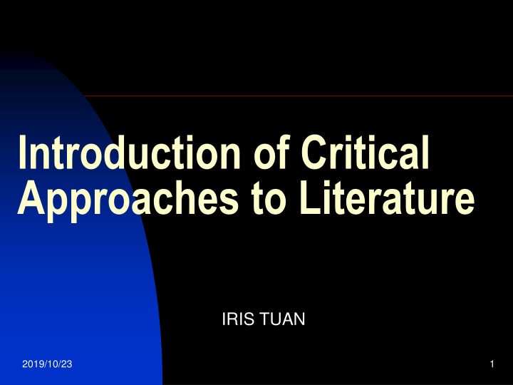introduction of critical approaches to literature n.
