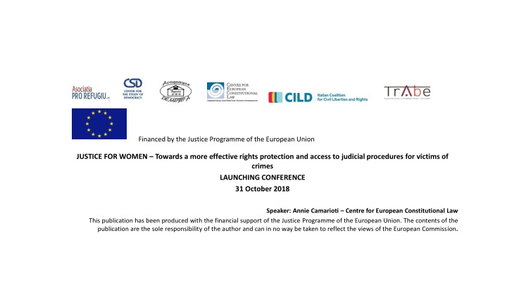 financed by the justice programme of the european union n.