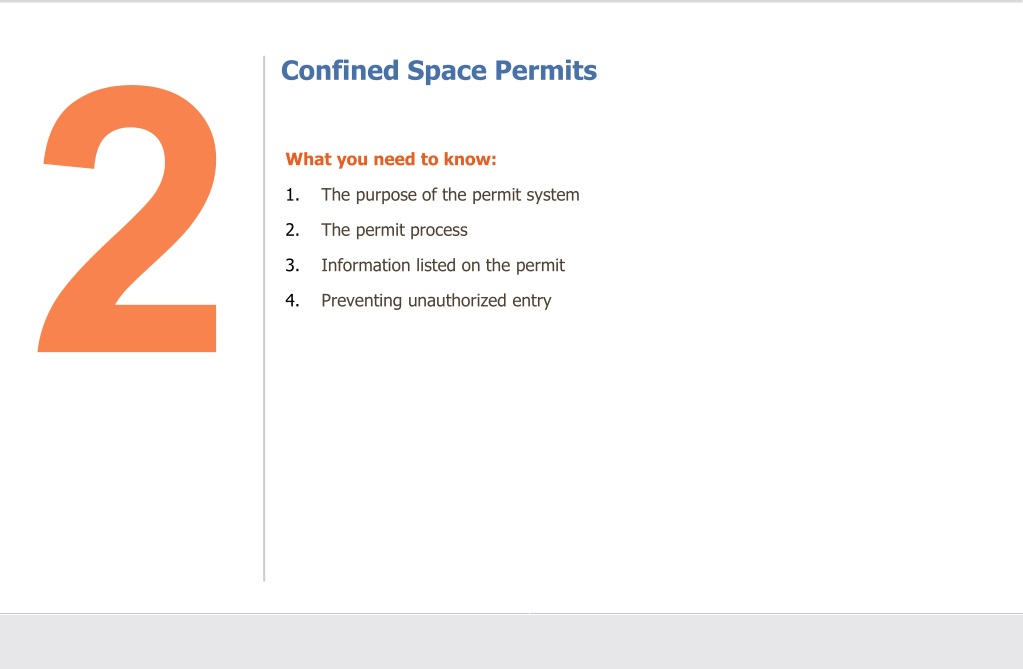 Confined space dissertation