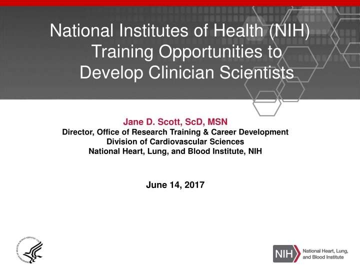 national institutes of health nih training opportunities to develop clinician scientists n.