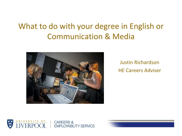 what to do with your degree in english or communication media n.