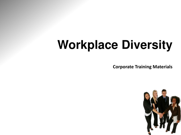 workplace diversity corporate training materials n.