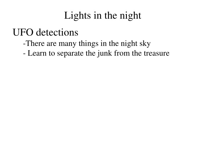 lights in the night n.