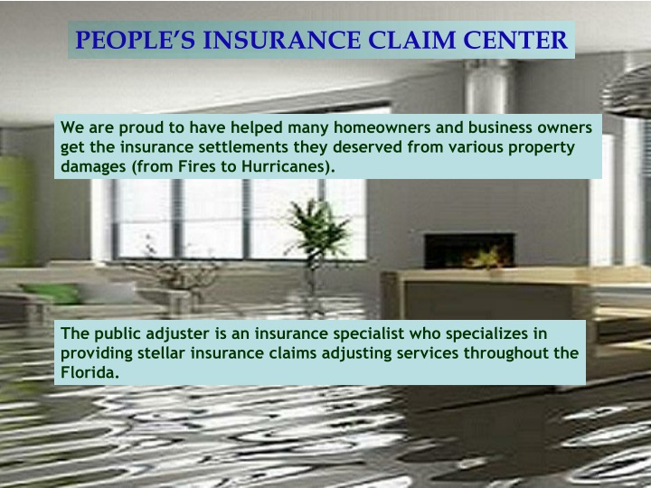 people s insurance claim center n.