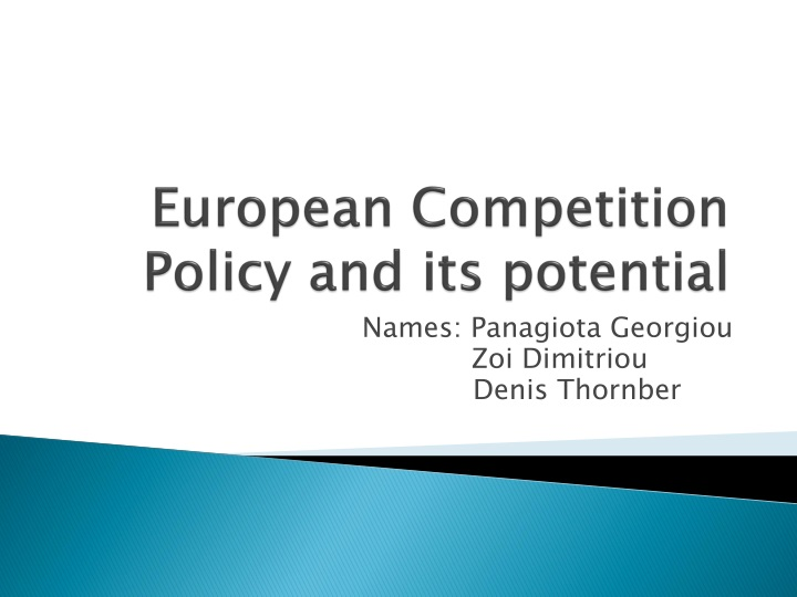 european competition policy and its potential n.